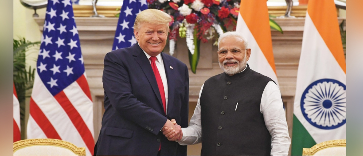Prime Minister meets Donald J. Trump, President of United States of America at Hyderabad House, New Delhi