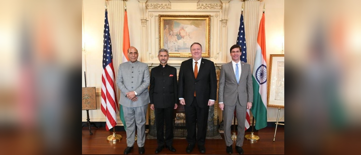 Transcript of Press Statements at India - US 2+2 Ministerial Dialogue , Washington DC on 18 December 2019