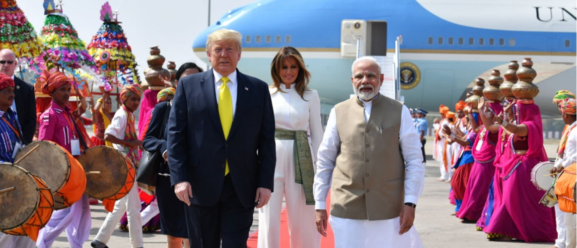 Donald J. Trump, President of United States of America arrives in Ahmedabad on his State Visit to India
